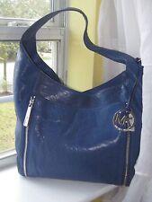 "Michael Kors ""Crosby"" Sapphire Blue  Leather  Hobo Shoulderbag   $348.00  NX2NU"