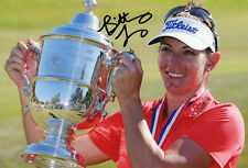 Brittany Lang, US Women's Open 2016, Solheim Cup, signed 12x8 inch photo. COA.