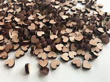 500 Streudeko Holz Teile Herz Tischdeko Hochzeit Dekoherzen Dunkel Extra Mini