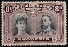 Rhodesia 1910-13 double head issue 8d. dull purple & purple, MH (SG#147)