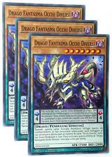 Set 3X DRAGO FANTASMA OCCHI DIVERSI  LEDD-ITC03 Pendulum Comune Italiano YUGIOH