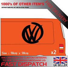 VW BADGE SWOOSH  side van car vdub t5 camper transporter vinyl decal sticker