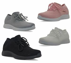 Ladies Trainer Girls Lace Up Sport Casual Running Summer Shoes Size