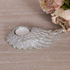 Silver Wing Tea Light Candle Holder Ornate Chic Love Wedding Accessory Gift Home