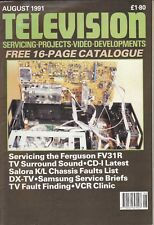 Television (servicing, projects, video, developments) Magazine August 1991
