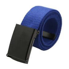 Men's Casual Canvas Web Belts Military Style Tactical Polyester Flip Top Buckle