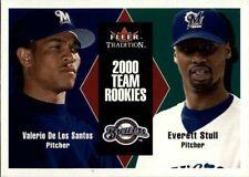 2000 Fleer Tradition Update Brewers Team Rookies V. De Los Santos- E.Stull