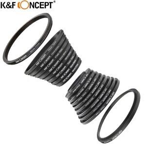K&F Concept 18pcs Camera Lens Filter Step Up Down Ring Adapter for DSLR SLR
