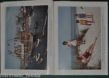 1944 magazine article, GULF OF MEXICO, color photos, US states, fishing, oil etc