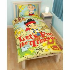 Boys Bedding Disney Jake and The Never Land Pirates Single Duvet Cover 2in1
