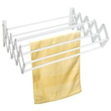 Wall Mounted Clothes Dryer Indoor Outdoor Expandable Laundry Drying Towel Rack