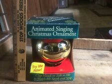 Vintage Animated Singing Christmas Ornament , In Box