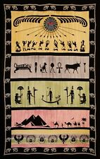 Handmade 100% Cotton Eye of Horus Tapestry Tablecloth Throw Spread Full 88x104