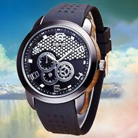 Luxury Men's Watches Stainless Steel Quartz Analog Fashion Boy Sport Wrist Watch
