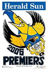 "AFL WEST COAST EAGLES HERALD SUN WEG 2006 PREMIERS POSTER ""LICENSED"" BRAND NEW"