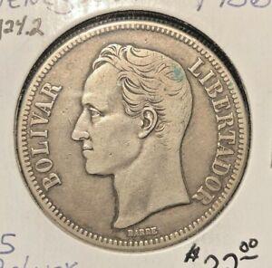 Venezuela  1936  5 bolivares  Y 24.2  xf