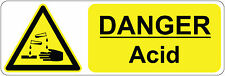 DANGER ACID health and safety signs stickers warning safety 300 x 100 mm