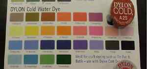 NEW DYLON HAND DYE COLD WATER FABRIC DYE for small items crafts tie-dye & batik