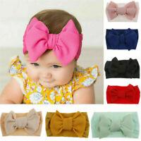 Toddler Girls Baby Big Bow Hairband Headband Stretch Turban Knot Head Wrap 1PC