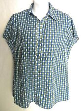Fred David Stretch Button Front Shirt Blouse ~ Size S