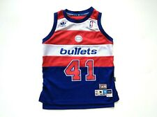 Adidas Hardwood Classic WES UNSELD #41 Bullets 1977-78 Jersey Youth M 10-12