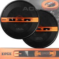 """EDGE Audio EDST216-E6 6.5"""" 165mm 240w 4-Way Car Door Coaxial Orange Speakers Set"""