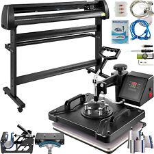 8 In 1 Heat Press 12x15 Transfer Machine 53 Vinyl Cutterplotter Cutting Diy