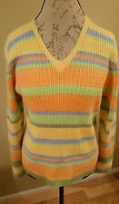 Lizgolf V Neck Sweater Large Spring Colors