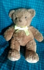 Carters Brown Teddy Bear with Yellow Bow 18 inches tall Plush Animal Big Cuddly