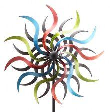 XL Windrad Swirl ArtFerro Windspiel Gartenstecker Gartendeko Metall  * H184 Ø36