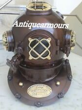00004000 Nautical Us Navy Heavy Vintage Divers Diving Helmet Reproduction Replica Item