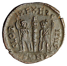 """ROMAN SOLDIERS Coin of Constantius II """"Hoplites Ensigns"""" HIGH QUALITY Certified"""