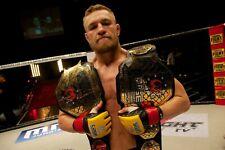 Conor McGregor UFC Unsigned 8x10 Photo UFC Title Belts