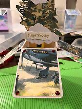 Handmade Box Birthday Card, Christmas Dad Spitfire, RAF, Military Father's Day