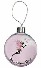 Fairy Hearts Personalised Christmas Tree Bauble Decoration Gift, FAIRY-3CB