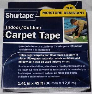 New Shurtape Indoor / Outdoot Carpet Tape Moisture Resisitant 36mm 1.41in x 42ft