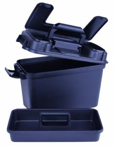 14 Inch Flambeau Water Resistant Black Marine Tackle Dry Box with Handle!
