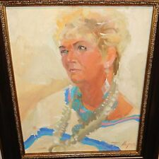 BETTY BILLUPS WESTERN COWGIRL ORIGINAL OIL ON BOARD PAINTING  ARTIST
