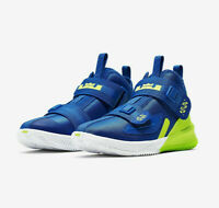 Nike Air Lebron Soldier XIII Shoes Royal Blue Volt AR7585-400 Youth GS Size 6.5Y
