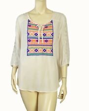 MOSSIMO SOUTHWESTERN LIGHT WEIGHT TUNIC TOP SIZE LARGE