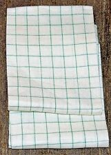 Vintage Set (2)  LINEN DISH Cloth TOWELS Green Checkered