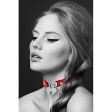 Collier et laisse collier rouge pendentif cadenas coeur  BIJOUX POUR TOI