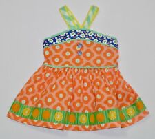 Matilda Jane Happy & Free Meringue Pontoon Orange Floral Oranges Sun Tank Top, 4