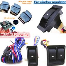 New Universal Auto Car Power Door Window Glass Lift Switch Harness Cable Kits