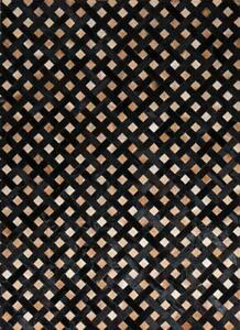 Handmade Black and Brown Cowhide Patchwork Rug Cowhide Carpet Cow hide Hair Rugs