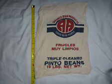 Soranco Bean Products Triple Cleaned Pinto Beans Sack 10lbs NO BEANS 14x10