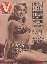 ▬►V MAGAZINE 360 de 1951 PIN UP CHRISTINE BERNARD_VITTEL_EVELYNE DORAT