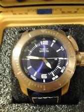 Invicta 50mm Corduba Quartz Stainless Steel leather Strap Watch w/ One-Slot case