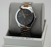 Michael kors runway world maplver with rose watch mk5958 ebay new authentic michael kors slim runway silver rose gold grey womens mk3713 watch gumiabroncs Image collections