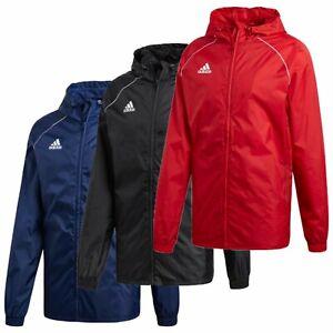 Adidas Mens Rain Jacket Waterproof Coats Core 18 Hoody Windproof Coat S L XL